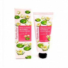 FARMSTAY PINK FLOWER BLOOMING HAND CREAM WATER LILY